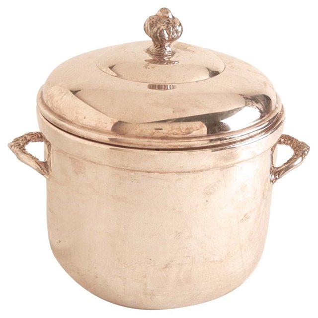 Silver Ice Bucket w/ Handles