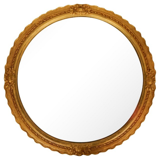 Gilded Carved Wood Mirror