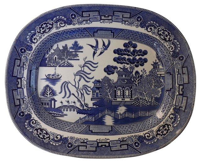 English Willow Serving Platter