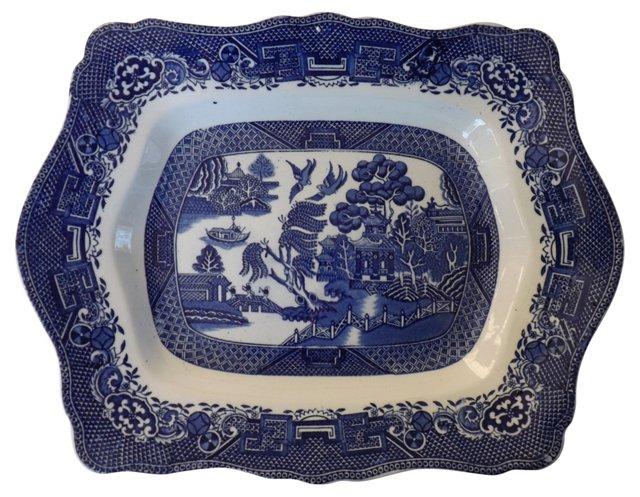Antique   Willow Platter