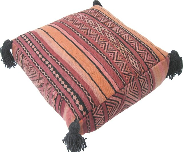 Moroccan Rose Kilim Floor Pillow