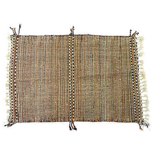 """Moroccan Zenefe Wool Rug, 3'8"""" x 5'9"""""""