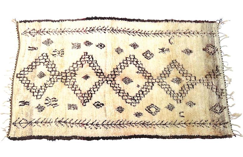 Vintage Tribal Moroccan Silky Wool Rug