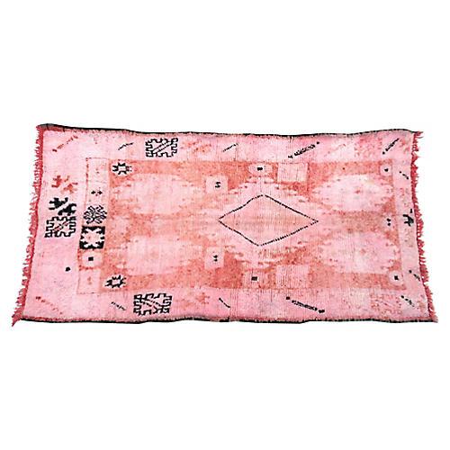 Vintage Pink and Coral Boujad Rug
