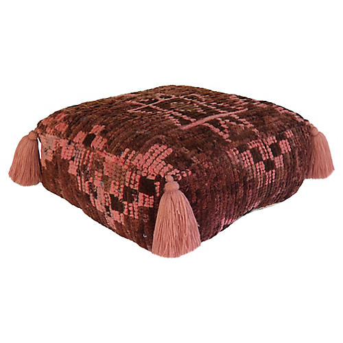 Chocolate and Pink Pouf