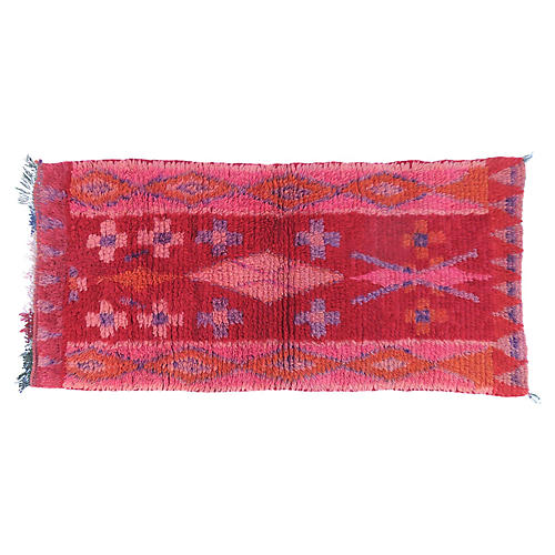 Vintage Red and Pink Wool Runner