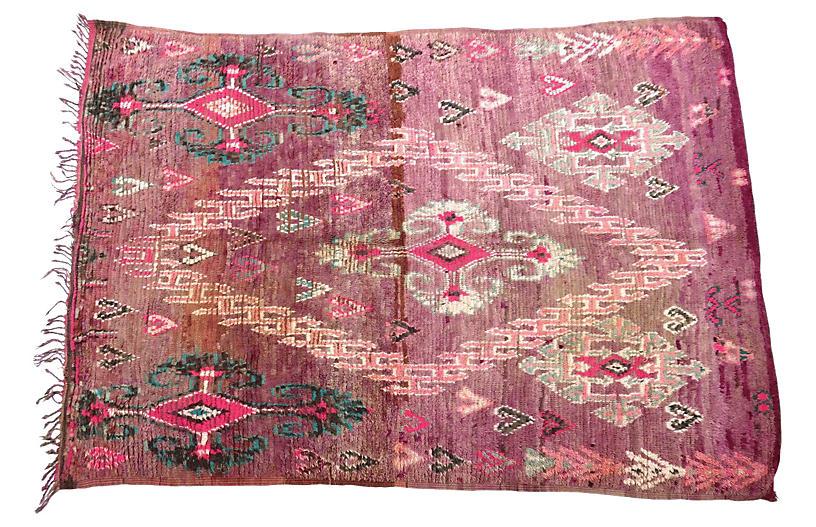 Extraordinary Vintage Boujad Rug
