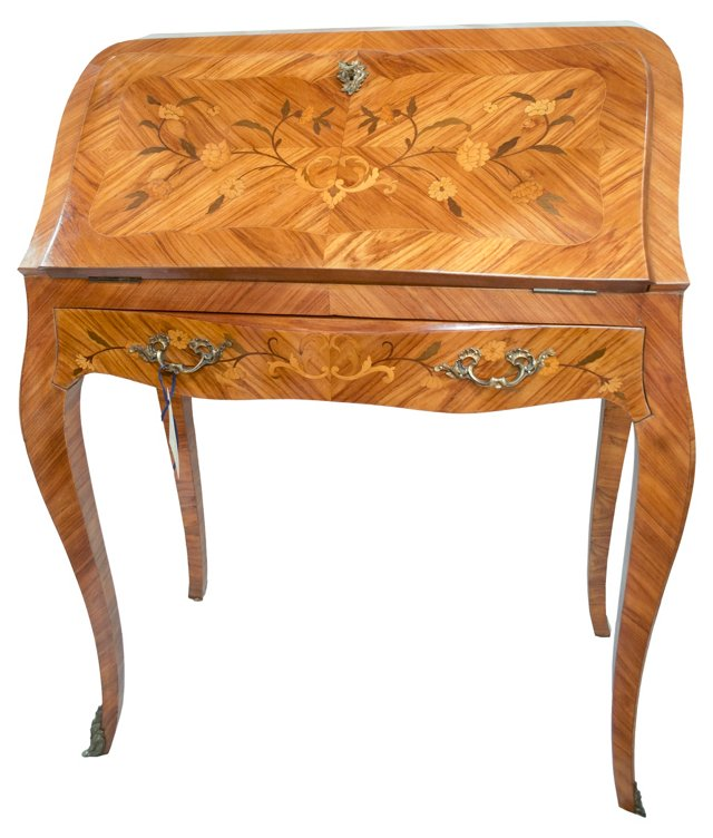 French Bombé Desk w/ Marquetry