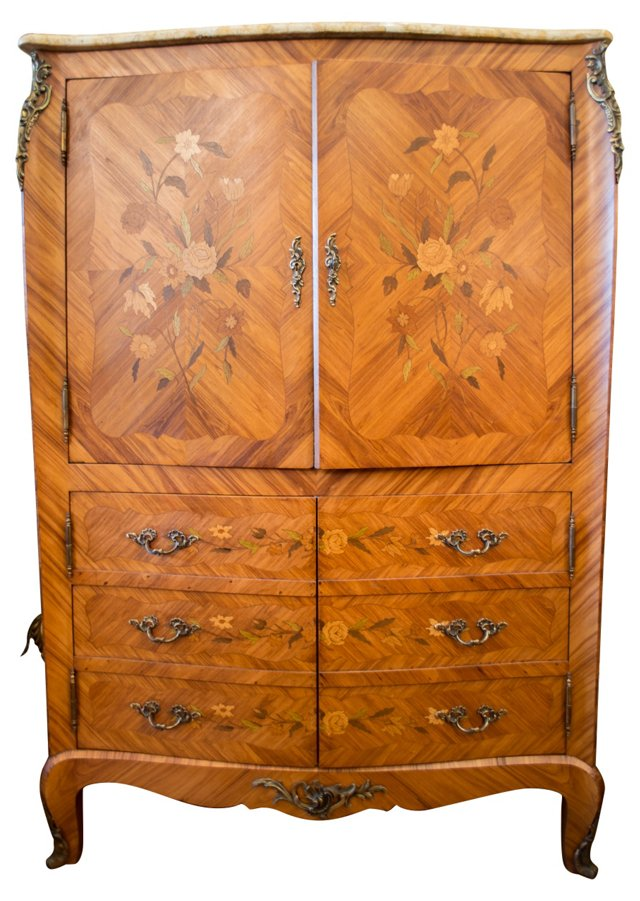 French Louis XV-Style Cabinet