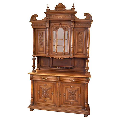 19th-C. Carved Walnut Sideboard