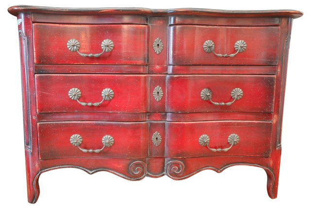 Louis XIV-Style Painted Chest
