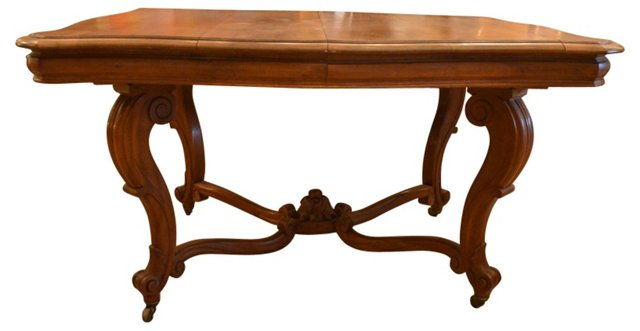 Antique French Walnut Table
