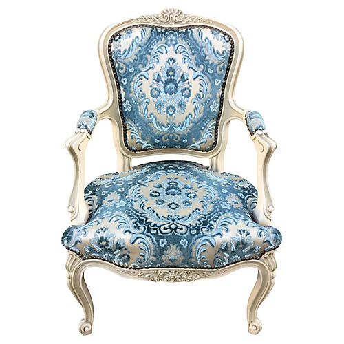French Chair w/ Velvet Seat