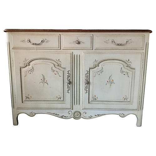 Louis XV-Style Painted Buffet