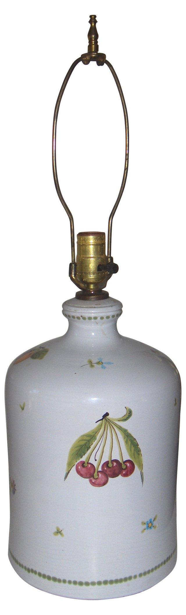 Italian Pottery Lamp