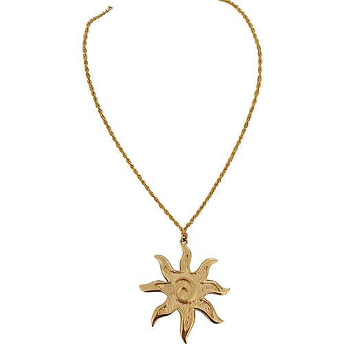 Oversize Givenchy Sun Pendant Necklace
