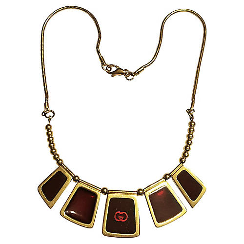 Gucci Red Glass Necklace