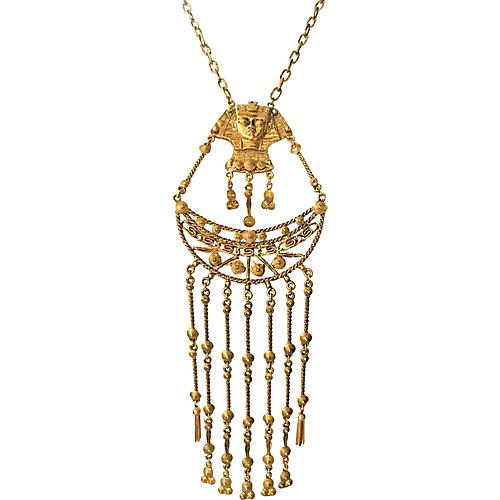 Oversize Egyptian Revival Necklace