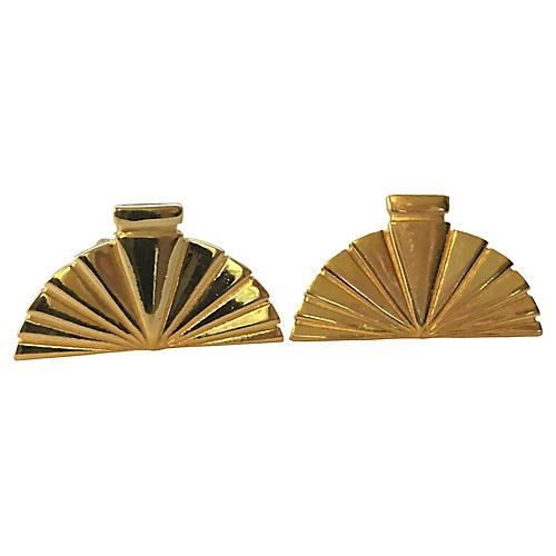 Lagerfeld Fan Earrings