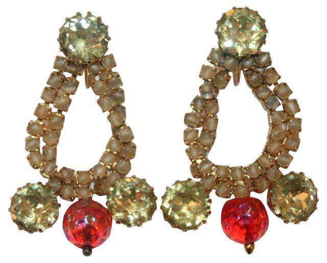 Hobe Crystal Chandelier Earrings