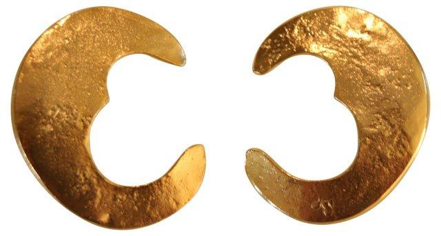 Les Bernard Crescent Moon Earrings