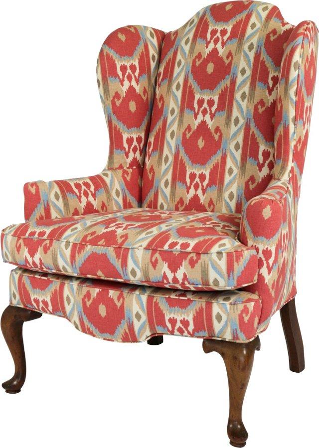 Wing Chair w/ Cabriole Legs