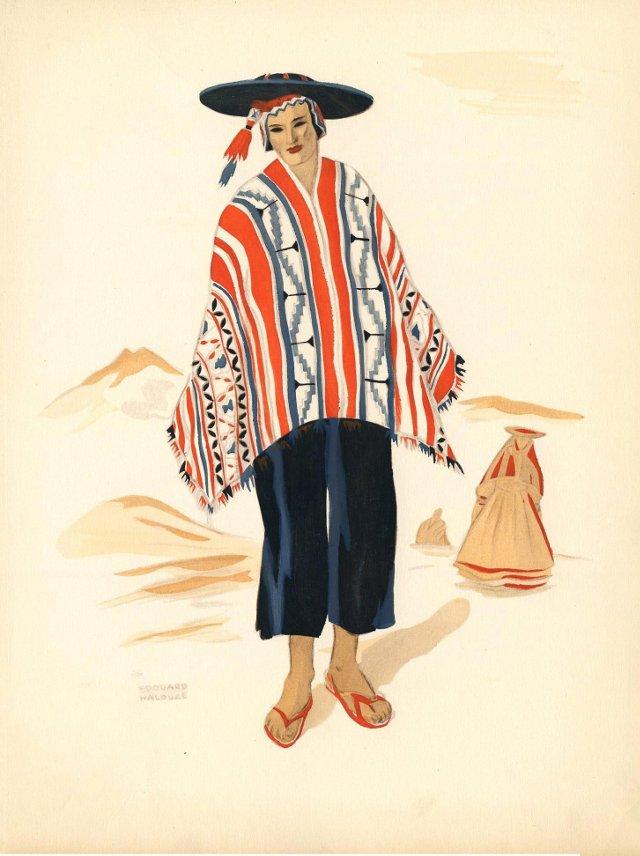 Peruvian Costume Print, 1941