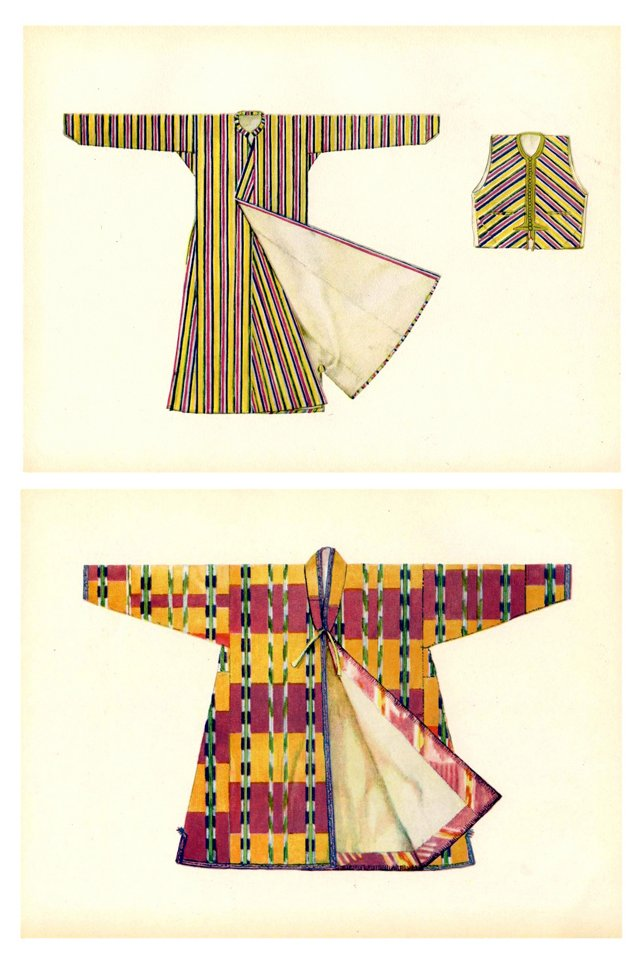 Asian Costume Prints, Pair