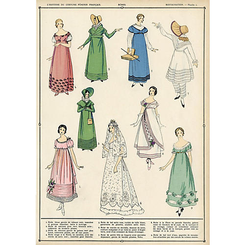 French Female Fashions - Robes