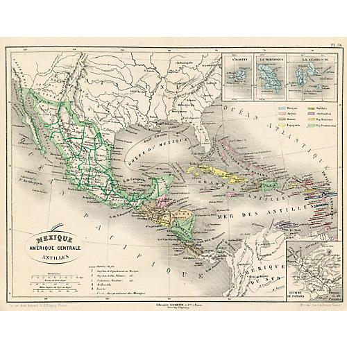 Mexico & Central America, 1865