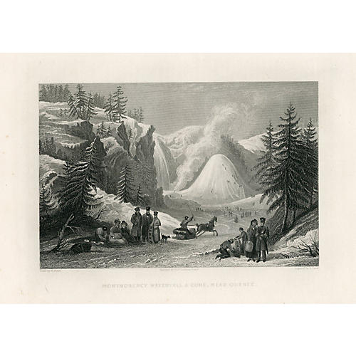 Winter Sports in Quebec, 1874 Engraving