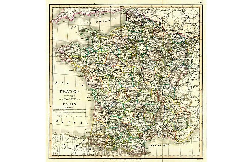 Treaty of Paris Map, 1824