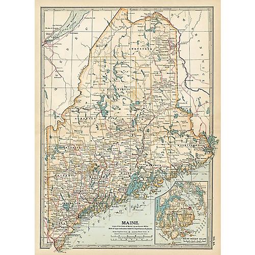 Maine, 1903 Map