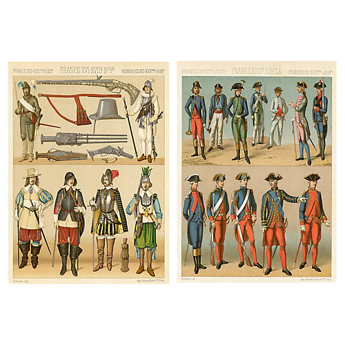 19th-C. French Military Uniforms, S/2