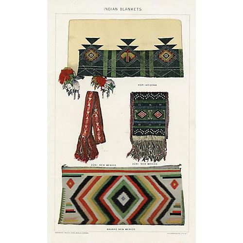 Hopi and Navajo Indian Blankets, 1902