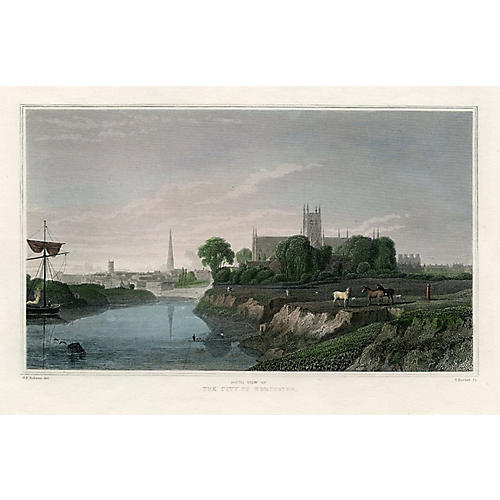 City of Worcester, mid 1800s
