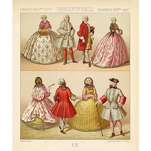 French Fashions from the 18th Century
