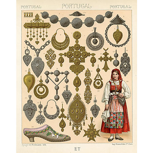 Portuguese Jewelry and Peasant Fashions