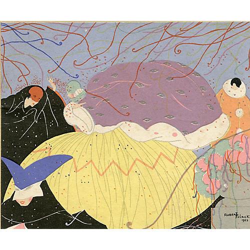 Art Deco Carnival Print by Robert Polack
