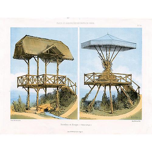 19th-C. French Garden Architecture