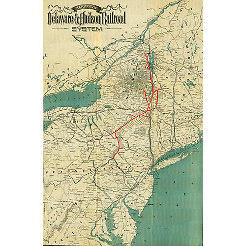 Adirondack Railroad Map, 1900