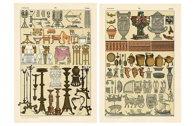 Grecian Decorative Furnishings, Pair