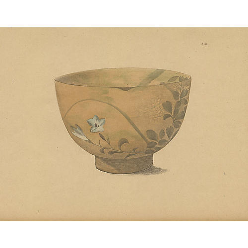 Japanese Pottery Bowl, 1890