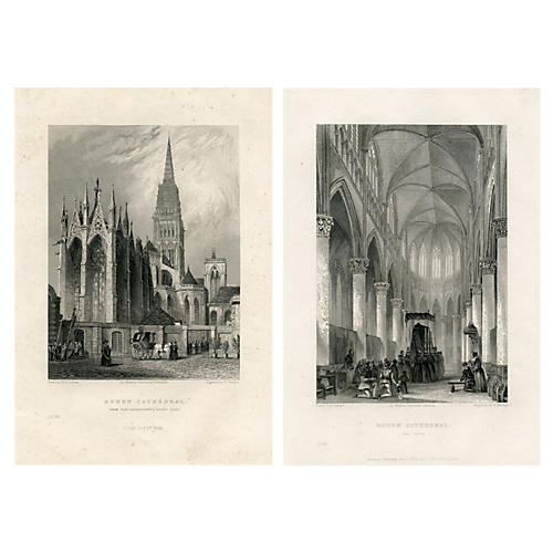 Views of Rouen Cathedral, Pair