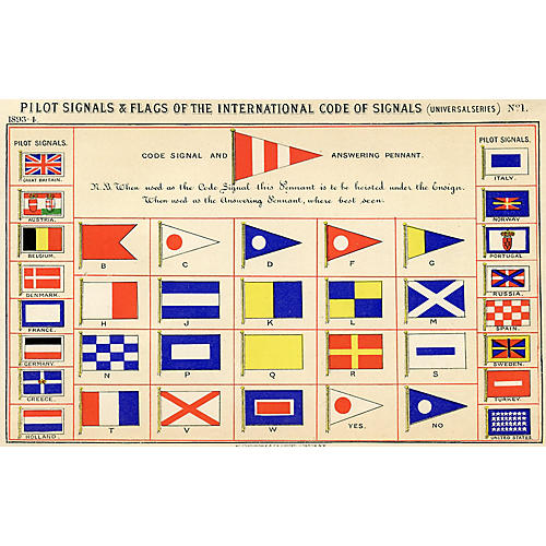 International Sailing Signal Flags, 1893