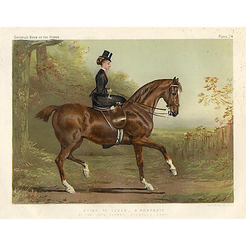 19th-C. British Equestrian Print
