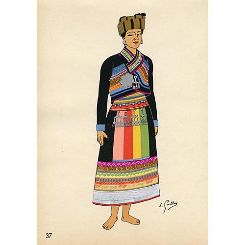 Vietnamese Fashion Print, 1946