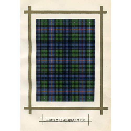 Scottish Tartans, Macleod & Mackenzie