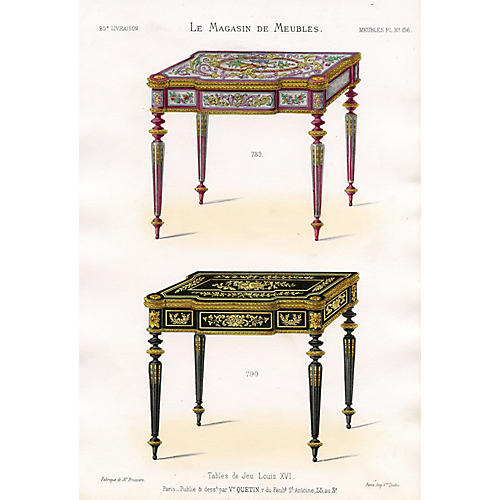 French Gaming Tables, Louis XVI Style