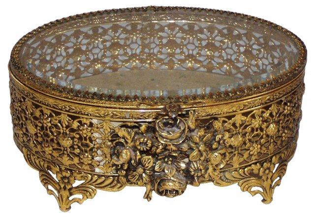 Ormolu Jewelry Box w/ Roses